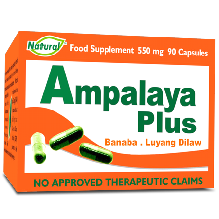 ampalaya pastillas Pproduct description: ampalaya plus capsule ampalaya plus capsule is an innovative product composed of 3 powerful herbs: ampalaya, banaba, and luyang dilaw ampalaya plus has been proven to effectively lower blood glucose by the study conducted by dr ricardo quintos of university of the philippines, college of medicine.